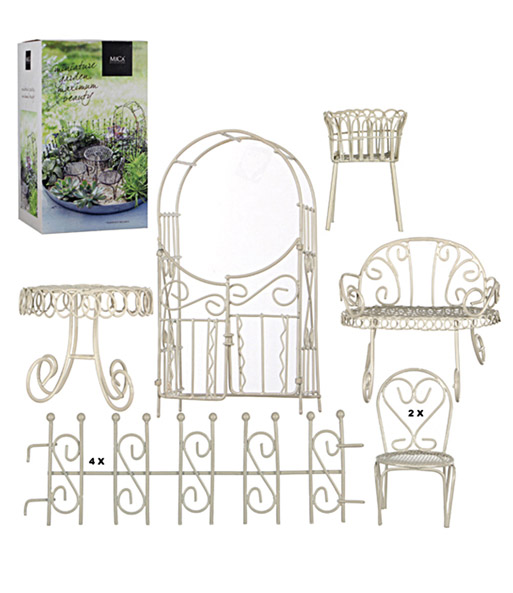 Mini Garten Starter Set Weiß 10 Tei Mini Gärten Bei Baldur Garten