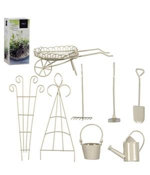 Mini-Garten Starter-Set weiß 8-teilig,1 Set jetztbilligerkaufen