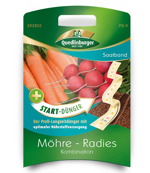 Saatband Möhre-Radies Kombination+Start-Dünger, 5 m