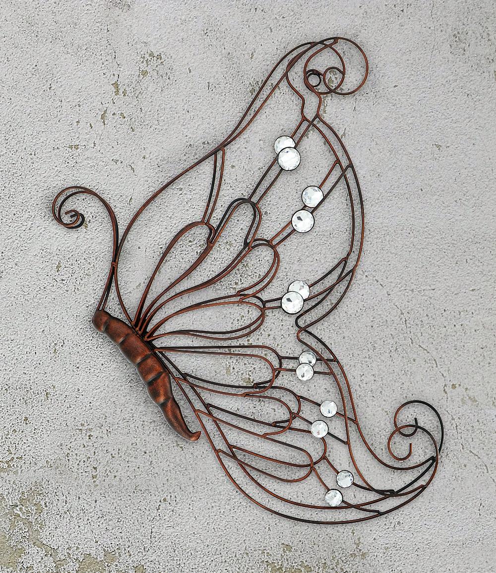 "*NEU*: Wanddekoration ""Schmetterling"" aus Metall, antikbraun"