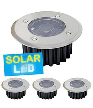 4er-Set LED Solar Bodenstrahler ´rund´,4er-Set