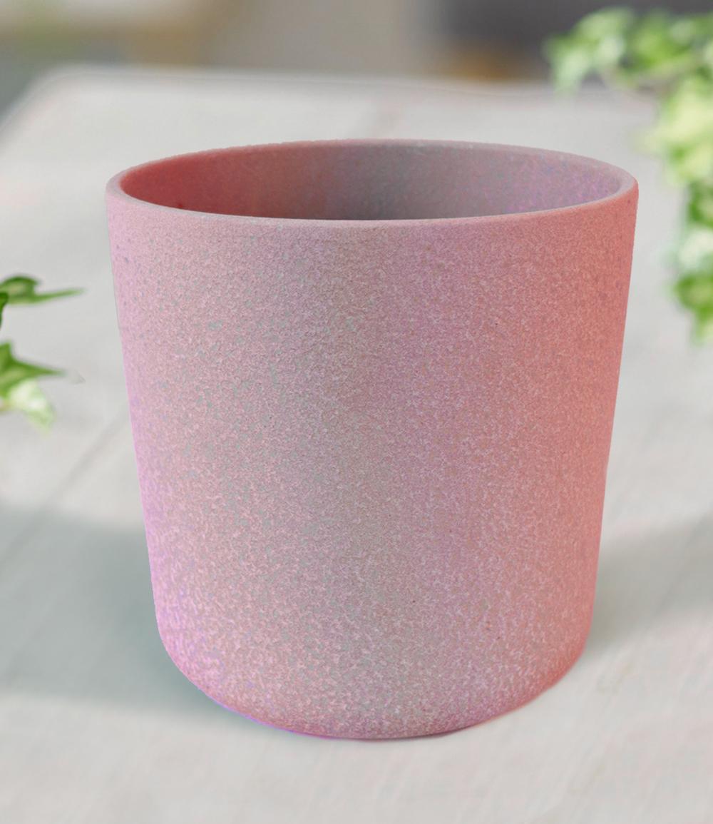 Keramik-Übertopf ø 17 cm 'antik pink'