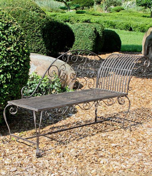 Gartenbank Liegebank Aus Metall 1a Qualität Baldur Garten