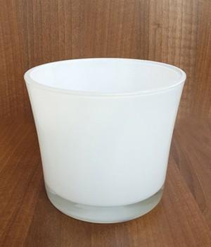 Glas-Übertopf ø 14 cm ´weiß´, 1 Stück jetztbilligerkaufen