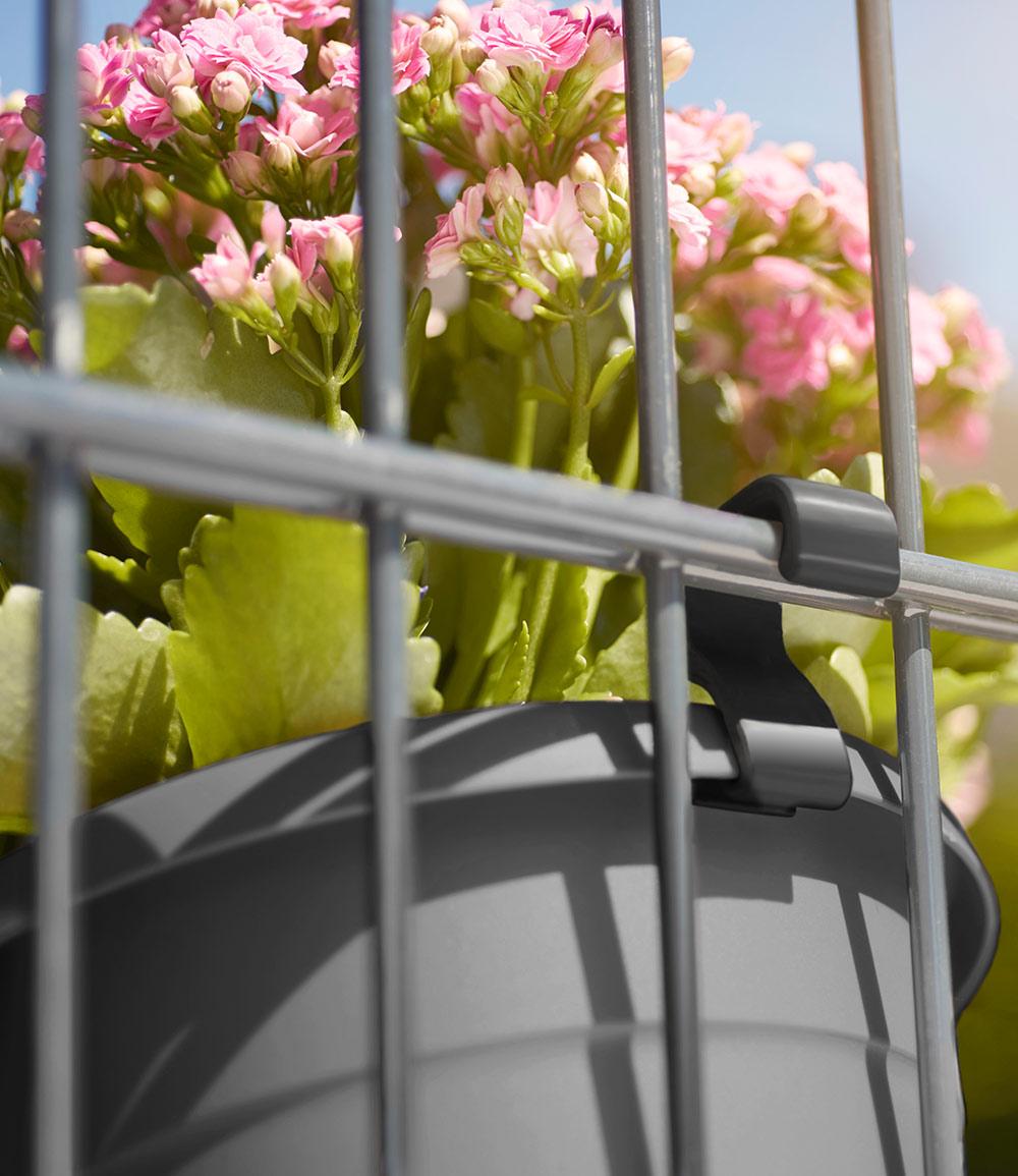 EMSA® 'My City Garden' Topfhaken anthrazit für Doppelstab-Mattenzäune