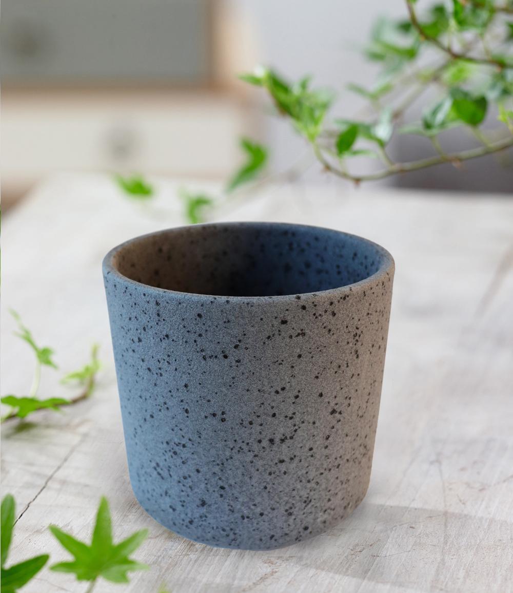 Keramik-Übertopf ø 10 cm 'schwarz'