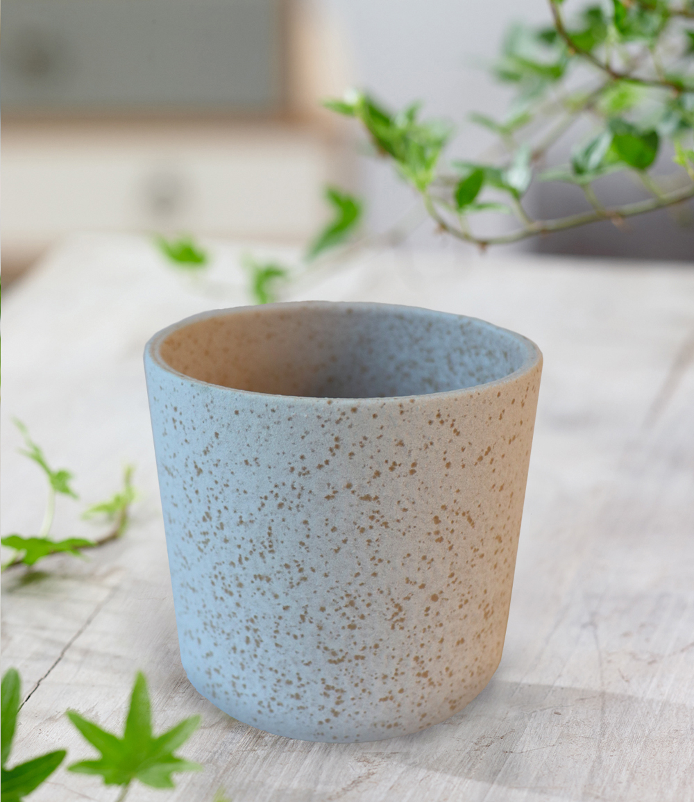 Keramik-Übertopf ø 10 cm 'creme-weiß'