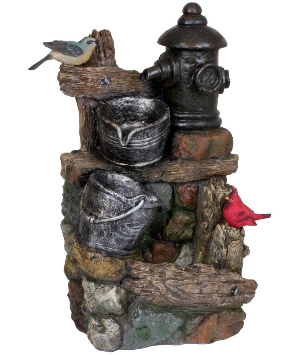 Brunnen METIS in Holz-/Stein-Optik