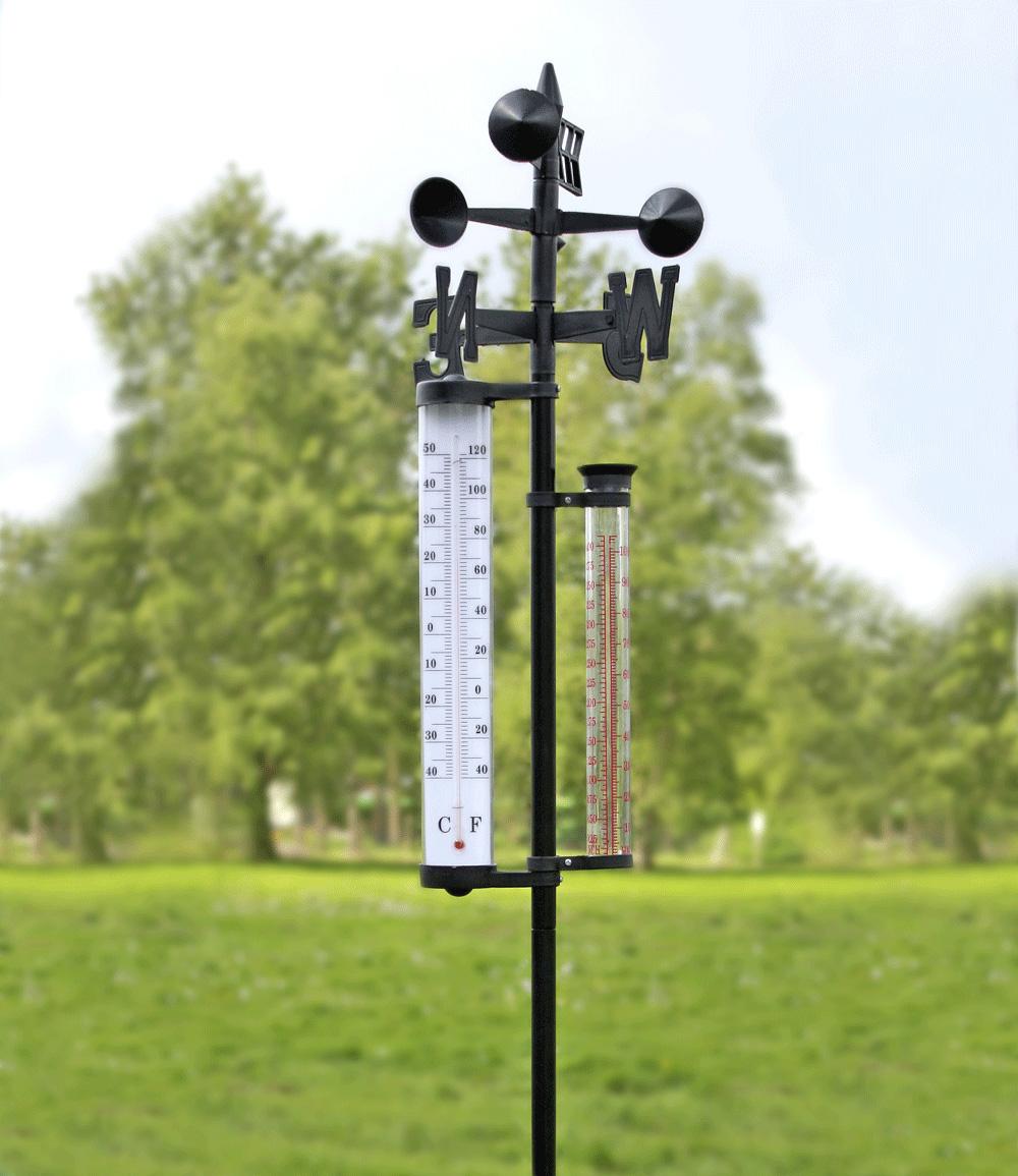 Wetterstation groß mit Regenmesser