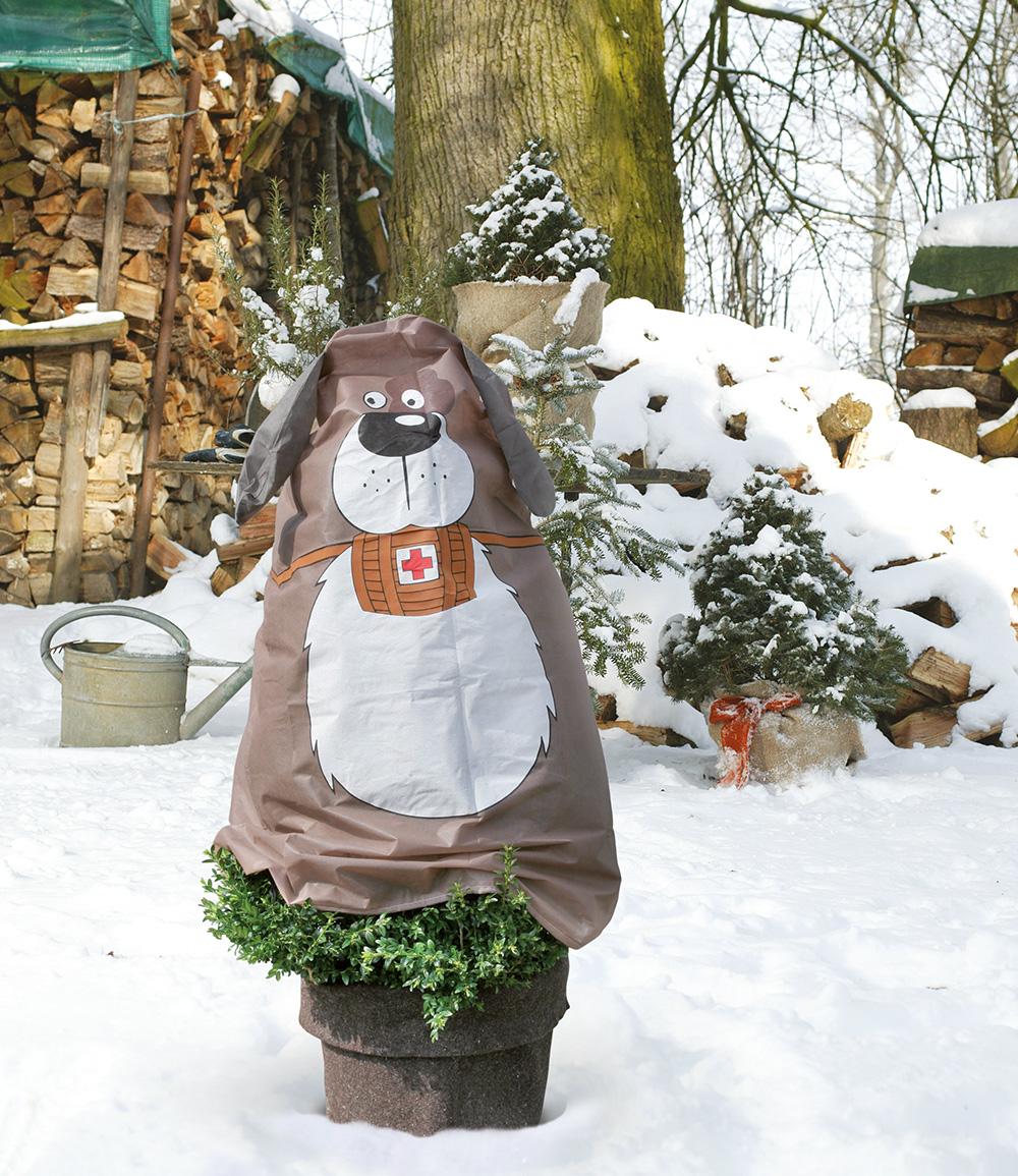 Winterschutz Vlieshaube Hund 'Paddy' 125 x 120 cm
