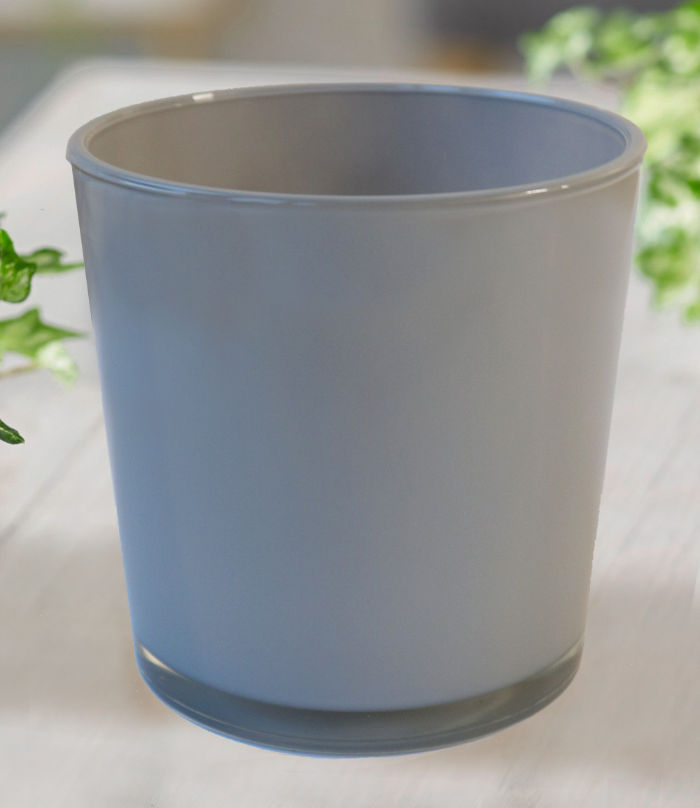 Glas-Übertopf ø 19 cm 'grau'