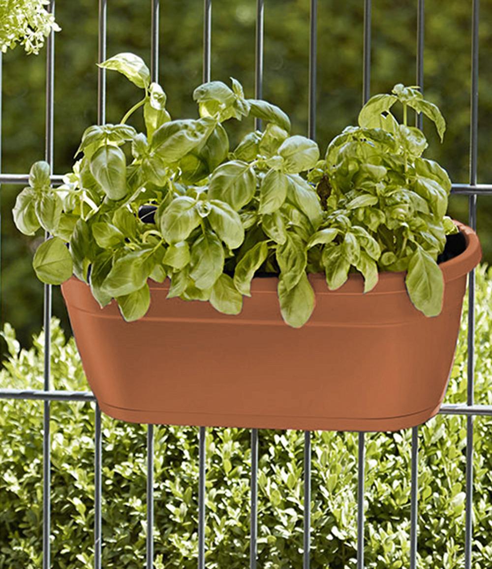 EMSA® 'My City Garden' Blumenkasten, terrakotta 40 cm