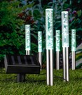 LED Solar 6er Lampenset Bubbles