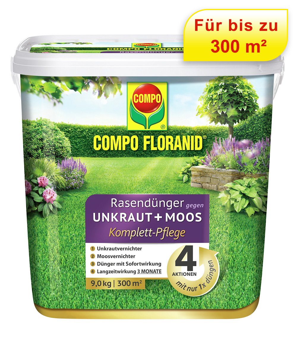 COMPO® FLORANID® Rasendünger gegen Unkraut + Moos