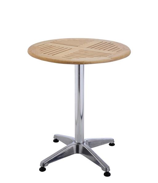 Bistro Tisch Rund Aus Alu U0026 Holz