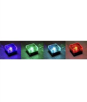 Solar-Leuchte  - ICE CUBE - ,4er-Set