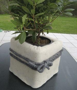 Winterschutzmatte aus Schafwolle ´naturweiß´ 200x50 cm,1 Stück