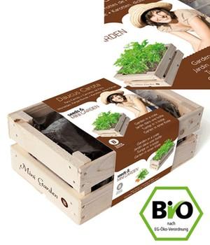 Mini-Garten BIO-Karotten ´Dicke Pariser´,1 Kiste - broschei