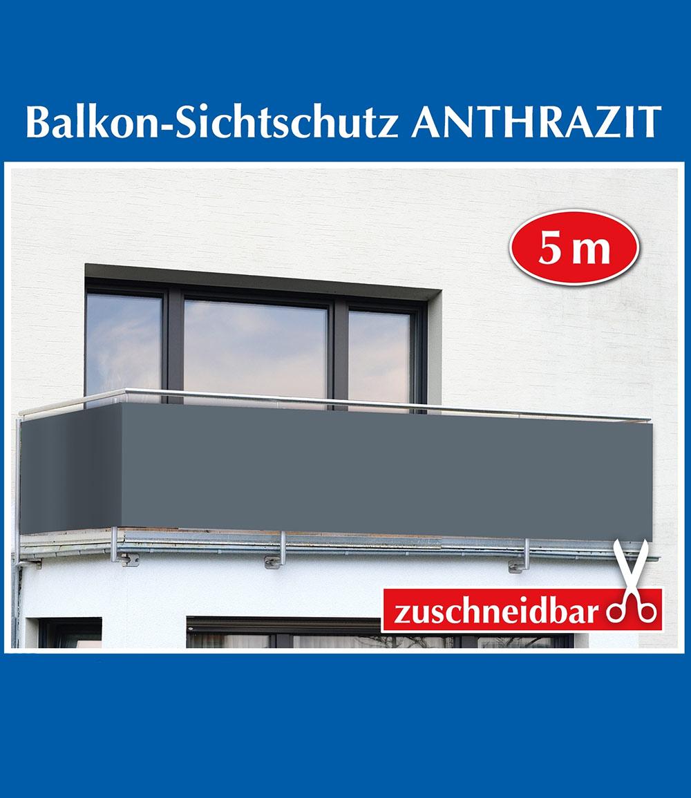 Balkon-Sichtschutz 'Anthrazit Uni'